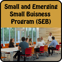 Small and Emerging Small Business Program (SEB) button