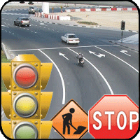 Traffic Signals, Signs, Pavement Markings, Street Lights